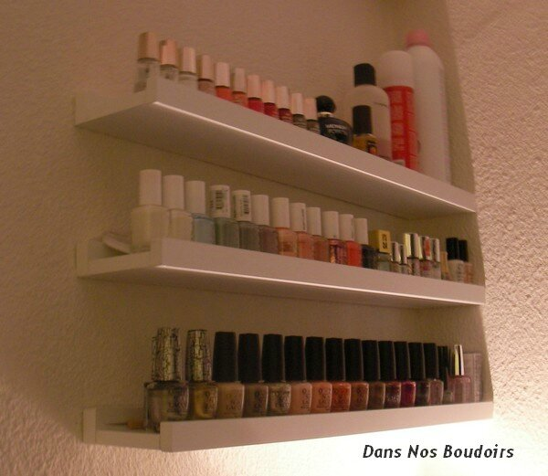 Rangement vernis à ongles Nail polishes storage