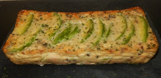 Quiche saumon avocat