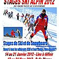 Ski alpin loisir - stages 2012