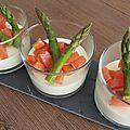 Panna cotta d'asperges au saumon fumé