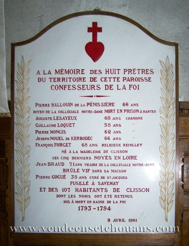 Les martyrs de Clisson, 1793-1794 (2e partie)