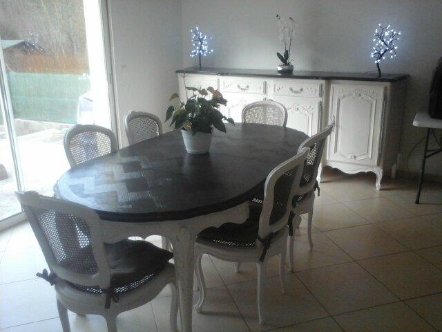 Pro votre patrimoine mobilier valoris r nov relook par la cr ation r - Relooker table merisier ...