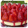Cheesecake new-yorkais aux fraises et coulis ,the best