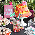 ▼▲ watermelon layer cake ▼▲ cake on the beach ☼ ▼▲ yummy pastèque