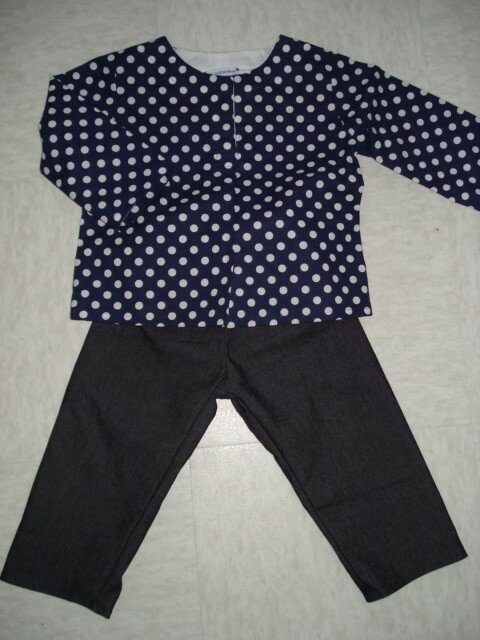 Ensemble Tunique + jeans (patron maison)
