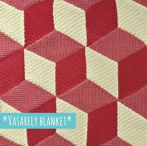 vasarely blanket crochet