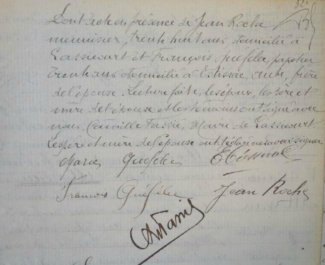 1920 le 24 avril mariage de Marie Quefelec et Emile Tisserand_4