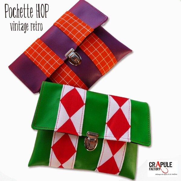 pochette hop simili cuir violet ET VERTE PRES 12600 600
