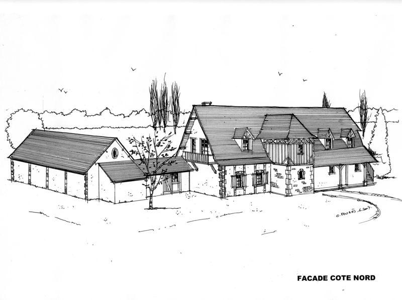 Maison normande olivier four s architecte honfleur t 06 60 41 60 32 - Extension maison normande ...