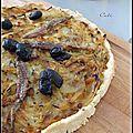 Tarte façon pissaladière - tarta como una pissaladière