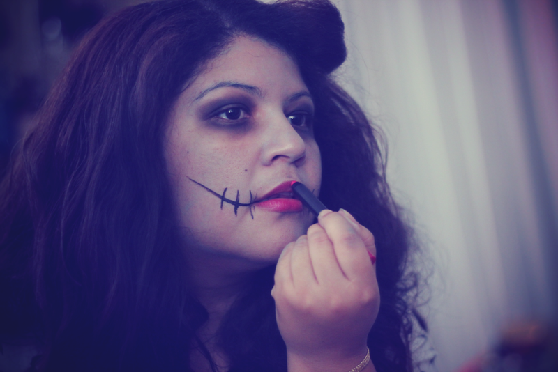 Halloween tim burton make up