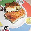 Clafoutis de courgettes, sans crème, sans lait, sans beurre et sans oeuf