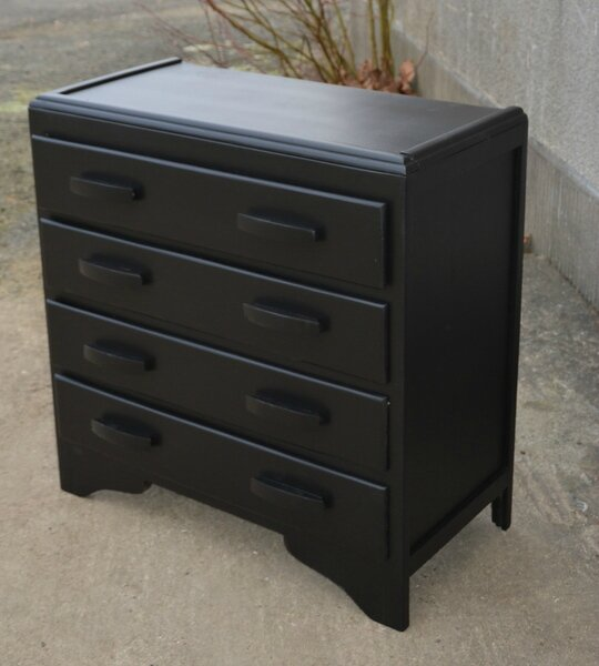 commode noire la petite brocanteuse. Black Bedroom Furniture Sets. Home Design Ideas