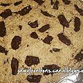Cookie géant au chocolat noir