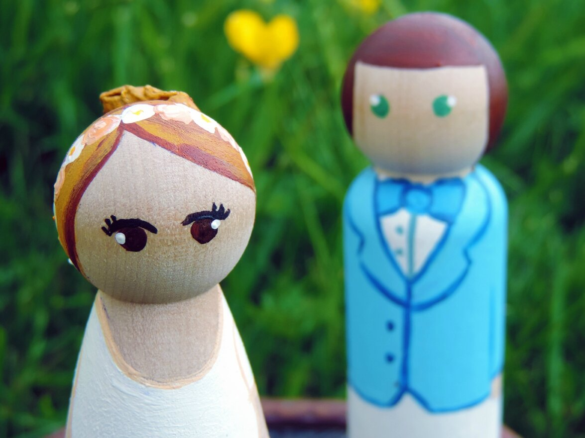 Figurines mariages printemps