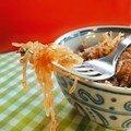 Courge spaghetti tomate basilic
