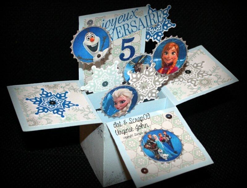Berühmt Un bon anniversaire à LOU en pop-up REINE des neiges - Art  LW53