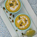 Creme de courge & carottes au lait de coco - crema de calabaza & zanahorias a la leche de coco