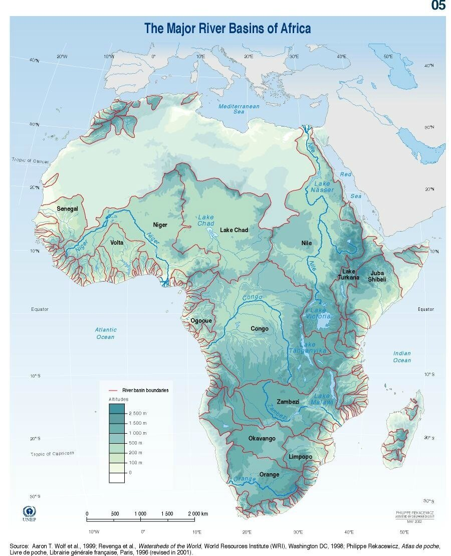 afrique-The major river basins of Africa