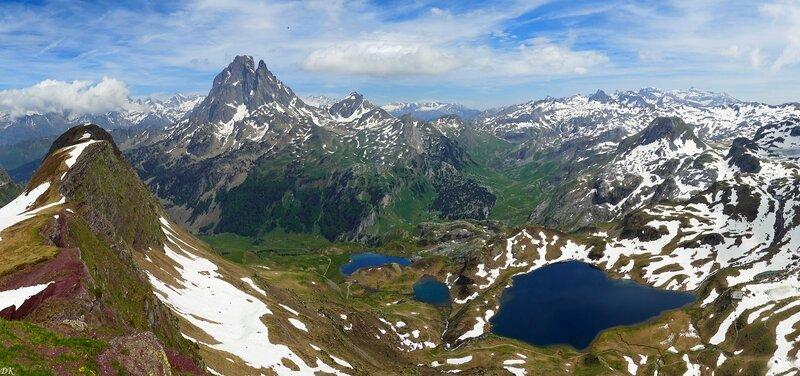 Pic d'Ayous et lacs éponymes