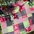 SUZANNE Couverture molletonnée (patchwork, molleton, polar)