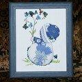 Petite fille en bleu