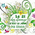 Le jour des fleurs ...chez Greenye continue en 2013 . Je participe avec joie !