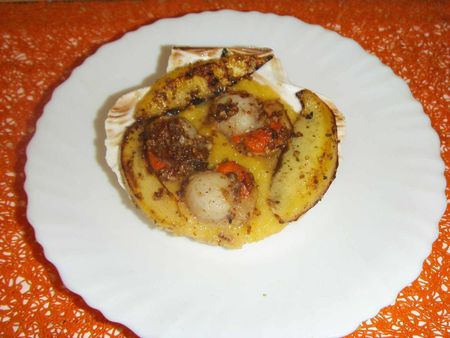 coquille st jacques pan et mangue