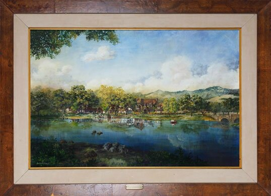 scenic painting of neverland signed david christmas 1981