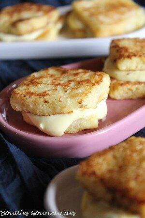 Bouchées au conté, ricotta et safran, façon pain perdu -Bouilles Gourmandes