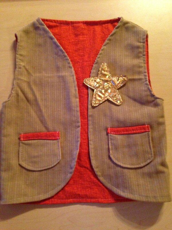 handmade sheriff vest_gilet