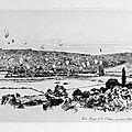 Lançon, Entre Mouzon et les 3 Fontaines vue prise de Villemontry 30 Août 2 heures 1870