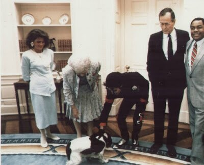 Michael Jackson White House Meeting - April 5, 1990 3 (1)