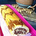 {dcoration de &lt;b&gt;gateau&lt;/b&gt; facile} &lt;b&gt;Gateau&lt;/b&gt; &lt;b&gt;roul&lt;/b&gt; au Nutella et petit plus dco pour anniversaire [ou pas] 