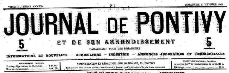 Presse Journal de Pontivy 1901_1