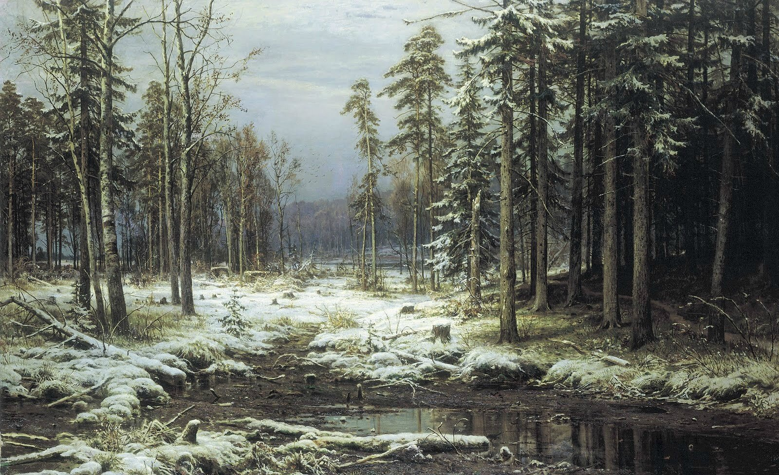 shishkin_the first snow_1875