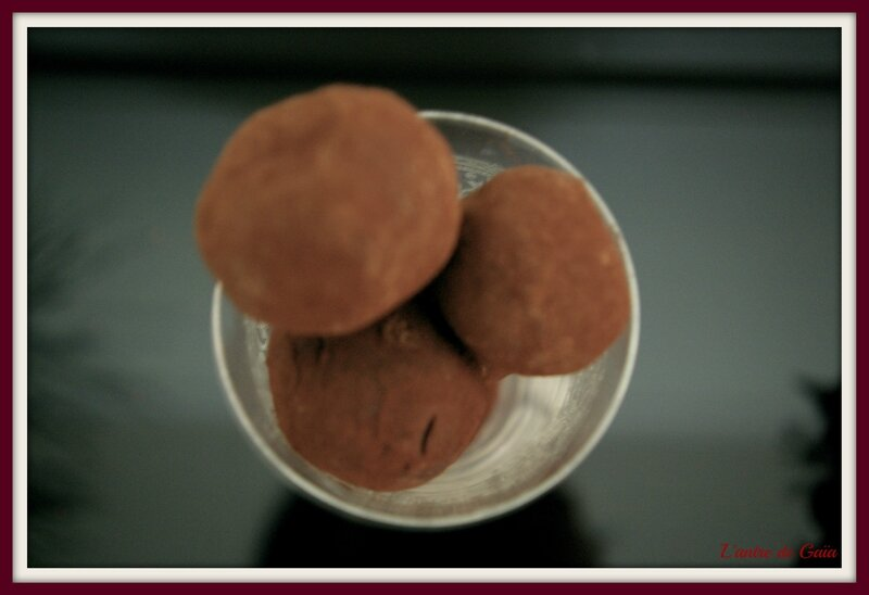 Recette truffes au chocolat moussantes