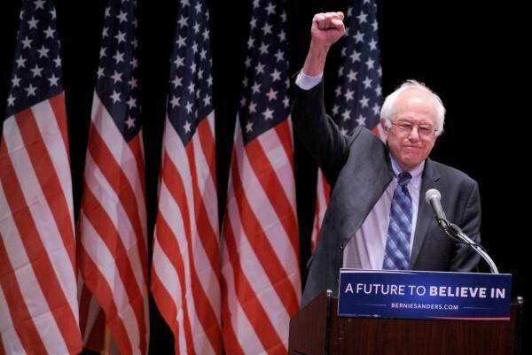 Bernie Sanders 2016 Poing levé