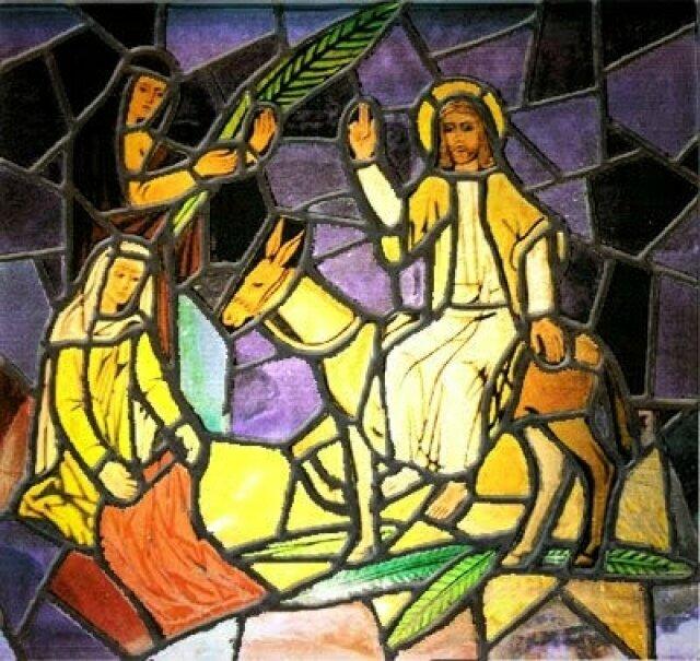 vitrail entree jesus jerusalem rameaux 2018