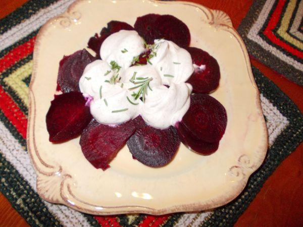 salade de betteraves au yahourt épicé