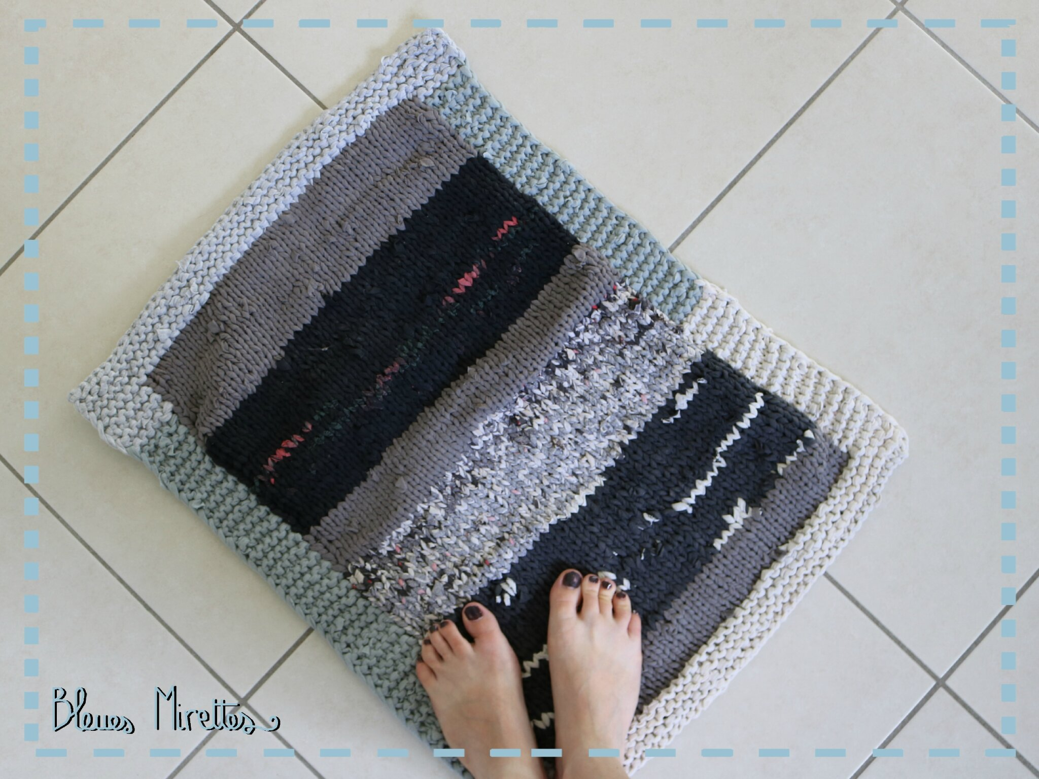 upcycled carpet 5e dition bleues mirettes. Black Bedroom Furniture Sets. Home Design Ideas