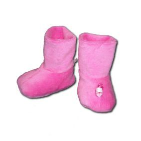 chaussons roses mini