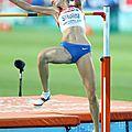 La russe svetlena shkolina championne mondiale du saut en hauteur à moscou 2013