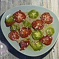 Salade de tomates colorées