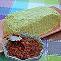 Terrine courgette basilic et concassé de tomates