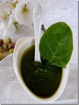 Pesto épinard pistache 4
