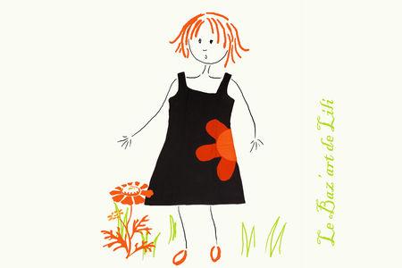 robe_noire_fleur_orange