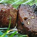 Brochettes de boeuf mariné