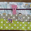 semainier en tissu, handmade week organiser (2)