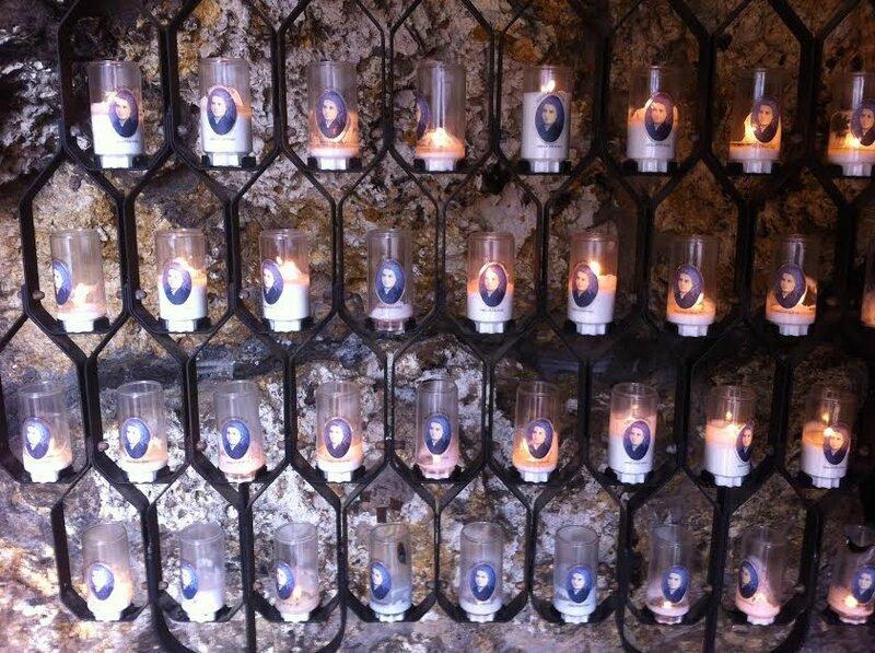 Nevers, couvent Saint Gildard, bougies